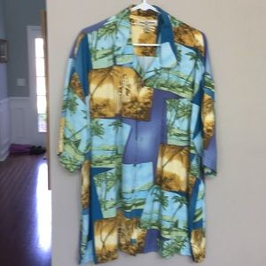 tommy bahama multi colored with palm trees